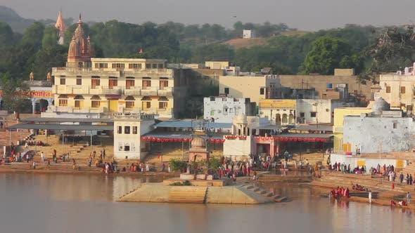 Thumbnail for Ritual Bathing In Holy Lake - Pushkar India 2