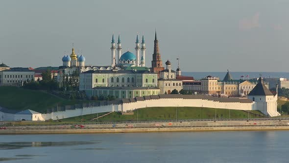 Thumbnail for Kazan Kremlin  Reflection In River At Sunset - Russia,