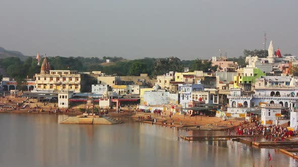 Thumbnail for Ritual Bathing In Holy Lake - Pushkar India 3
