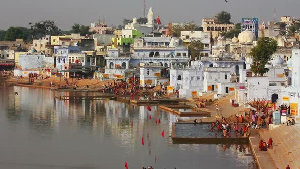 Thumbnail for Ritual Bathing In Holy Lake - Pushkar India 4