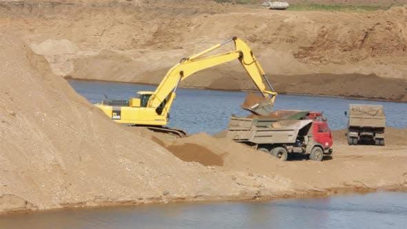 Thumbnail for Sandpit - Loader Dump Tipper Loads Of Sand