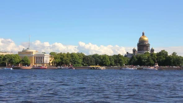 Thumbnail for Neva River In The Historical Center Of Saint-Petersburg, Russia - 1
