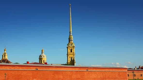 Thumbnail for St. Peter And Paul Fortress In Saint-Petersburg, Russia -  In Motion