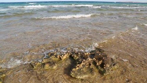 Sea Waves On Red Sea