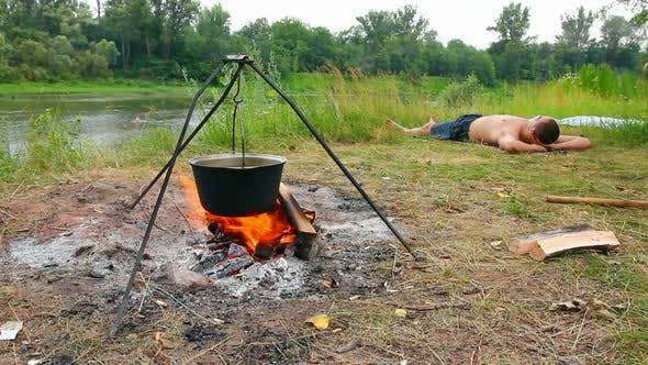 Thumbnail for Camping - Kettle Over Campfire 2