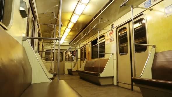 Thumbnail for Interior Of Moving Subway Car