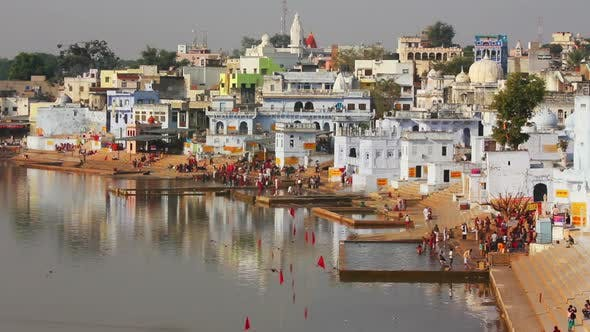 Thumbnail for Ritual Bathing In Holy Lake Pushkar India - 2
