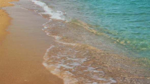 Thumbnail for Turquoise Sea Water Waves And Sand Beach 3