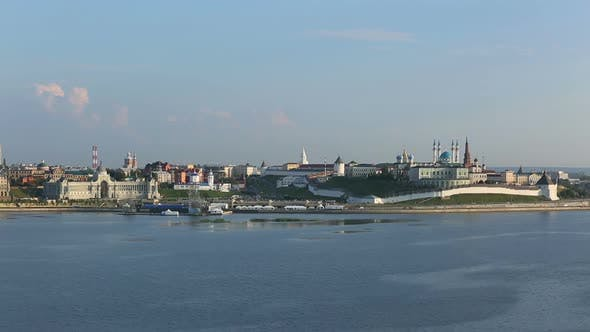 Thumbnail for Landscape  Kazan Kremlin Near River At Sunset - Russia,