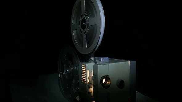 Thumbnail for Old Projector Showing Film - Dolly Shot 3