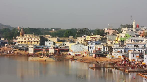 Thumbnail for Ritual Bathing In Holy Lake Pushkar India - 1