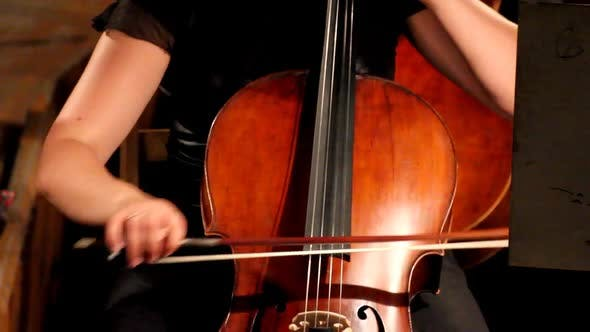 Thumbnail for View On Violoncello In Orchestra 1