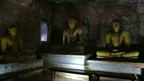 Thumbnail for Buddha Statues In Dambulla Cave Temple, Sril Lanka 3