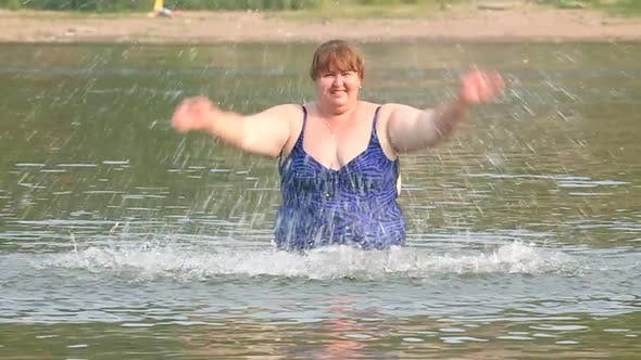 Thumbnail for Woman  Overweight Bath In River 1