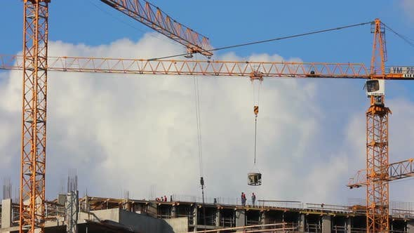 Thumbnail for Working Construction Cranes 4