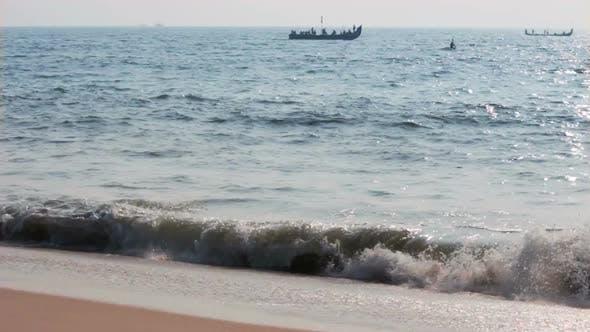 Thumbnail for Fishermen Boats In Sea - Kerala India 2