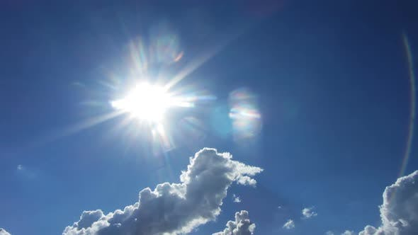 Thumbnail for Beautiful Clouds  Sun Background -