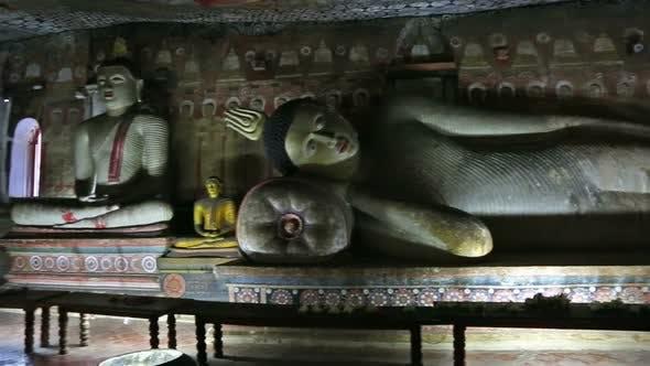 Thumbnail for Buddha Statues In Dambulla Cave Temple, Sril Lanka 2