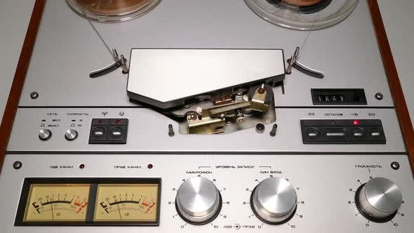 Thumbnail for Old Reel Tape Recorder  Spinning Reels 1
