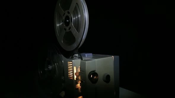 Thumbnail for Old Projector Showing Film - Dolly Shot 2