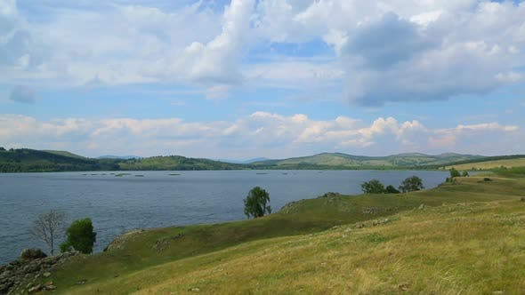 Thumbnail for Beautiful  Landscape  Lake Between Hills - South Ural, Russia 4