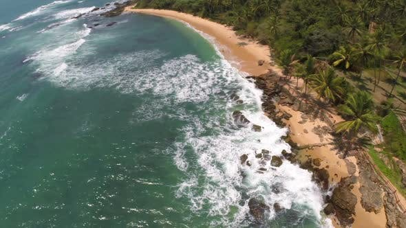 Cover Image for Flying Over Sea Waves On Tropical Beach