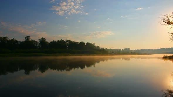 Thumbnail for Morning Landscape  Sunrise Over River