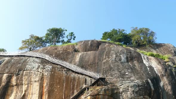 Thumbnail for Sigiriya Lion Rock Fortress In Sri Lanka, Tilt View