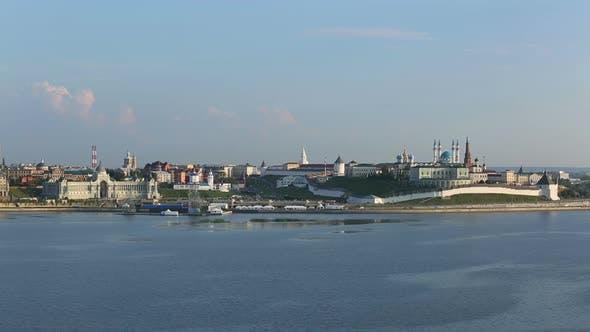 Thumbnail for Landscape  Kazan Kremlin Near River At Sunset - Russia