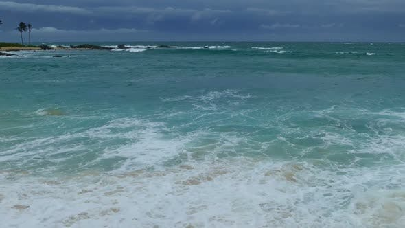 Thumbnail for Sea Stormy Landscape Over Rocky Coastline In Indian Ocean 3