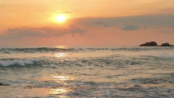 Thumbnail for Beautiful Landscape  Tropical Sea Sunset On The Beach 7