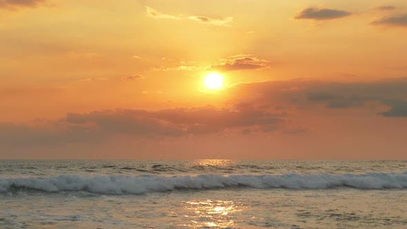 Thumbnail for Beautiful Landscape  Tropical Sea Sunset On The Beach 6