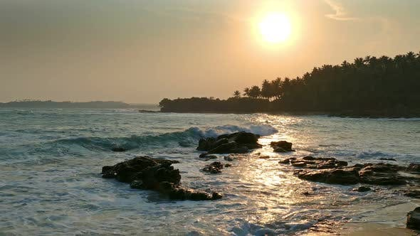 Thumbnail for Beautiful Landscape  Tropical Sea Sunset On The Beach 8