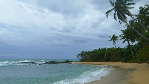 Beautiful Landscape  Stormy Sea Beach Under Moody Sky 2