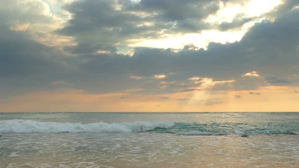 Thumbnail for Beautiful Landscape  Tropical Sea Sunset On The Beach 2