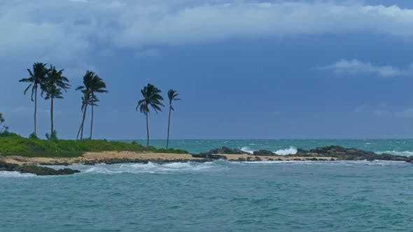 Thumbnail for Sea Stormy Landscape Over Rocky Coastline In Indian Ocean 6