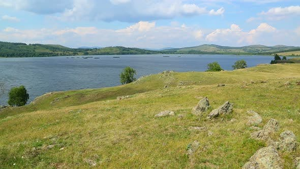 Thumbnail for Beautiful  Landscape  Lake Between Hills - South Ural, Russia 3