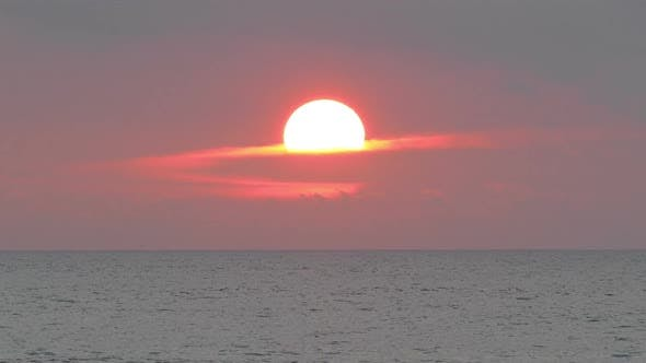 Thumbnail for Beautiful Landscape  Sunset On The Sea