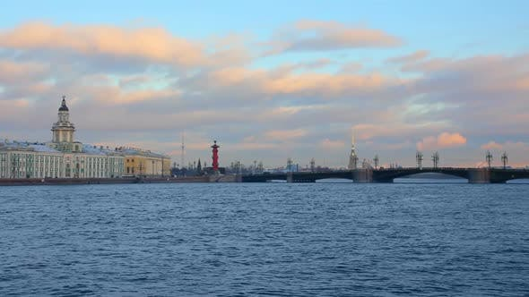 Thumbnail for Panorama Of Neva River In The Historical Center Of Saint-Petersburg, Russia 2