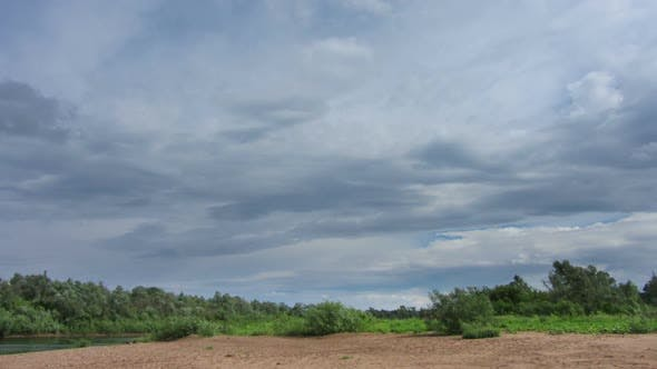 Thumbnail for Landscape  Rain Clouds Over River