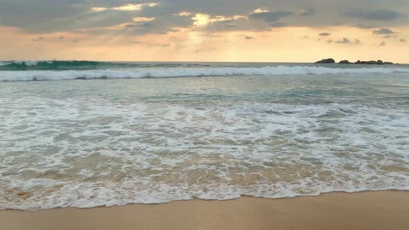Thumbnail for Beautiful Landscape  Tropical Sea Sunset On The Beach 1