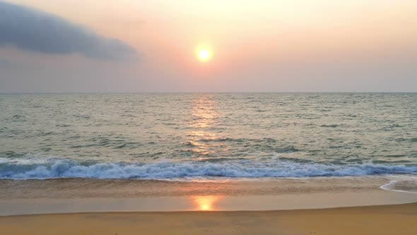 Thumbnail for Beautiful Landscape  Tropical Sea Sunset On The Beach 10