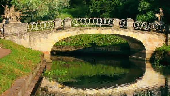 Cover Image for Centaurs Bridge In Pavlovsk Park St. Petersburg Russia