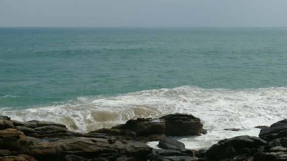 Thumbnail for Big Waves Crashing On Stone Beach 1