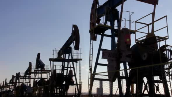 Thumbnail for Many Working Oil Pumps Silhouette