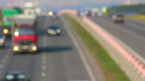 Thumbnail for Cars traveling on The Highway - Defocused 2