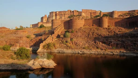 Thumbnail for Evening   Fort And Lake In Jodhpur India