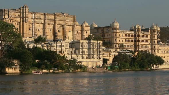 Thumbnail for Pichola Lake And Palaces In Udaipur India 3