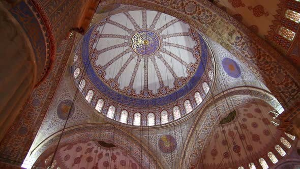 Thumbnail for Sultanahmet Mosque Interior In Istanbul Turkey