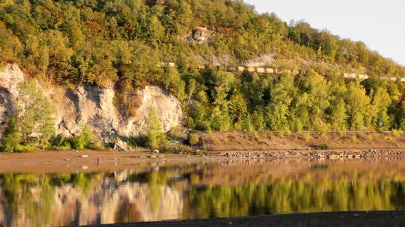 Thumbnail for Autumn Landscape  Moving Train And River